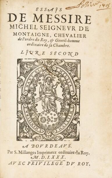 View 3. Thumbnail of Lot 49. La Théologie naturelle de Raymond Sebon. Chaudière, 1569. Vélin souple de l'époque. Edition originale..