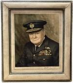 [Winston Churchill] — David Waddington, photographer | Vintage color transfer print signed by Churchill, 1945 [printed 1946]
