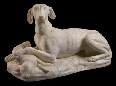 PROBABLY ENGLISH, FIRST HALF 19TH CENTURY | DOG WITH A HARE