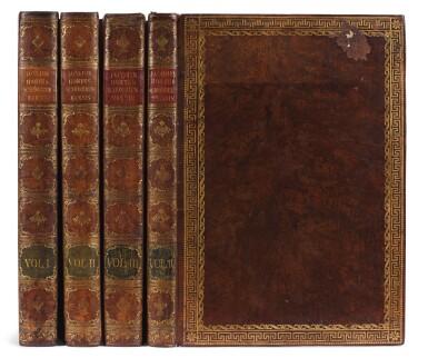 View 10. Thumbnail of Lot 21. Jacquin   Plantarum rariorum Horti Caesarei Schönbrunnensis descriptiones et icones. 1797–1804, 4 volumes.