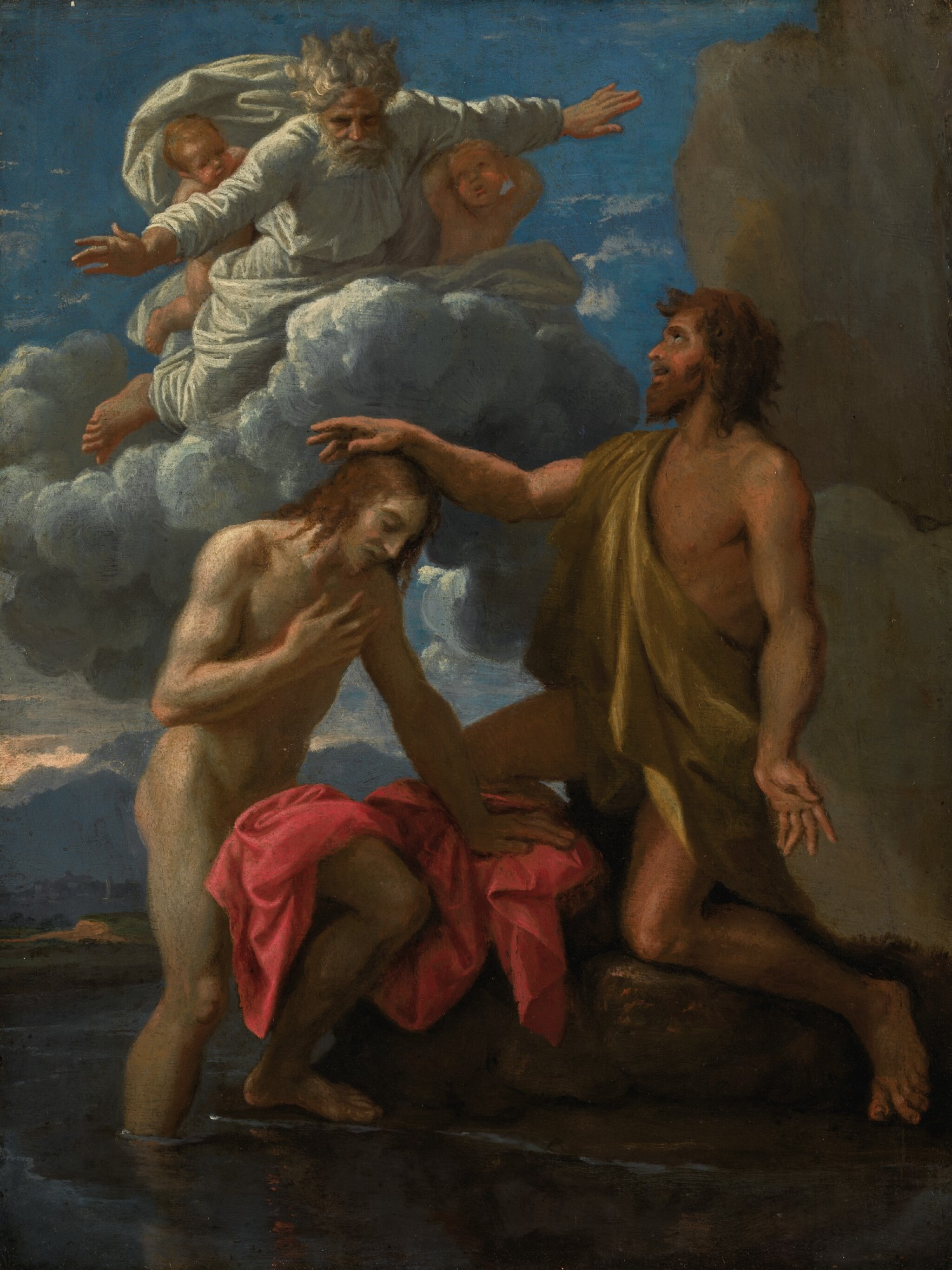 View full screen - View 1 of Lot 16. NICOLAS POUSSIN | The Baptism of Christ| 尼古拉・普桑 | 《基督受洗》.