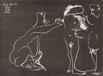 PABLO PICASSO | FEMME NUE SE CACHANT LE VISAGE, AVEC DEUX HOMMES (B. 1412; BA. 1427)