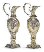 A LARGE PAIR OF AMERICAN SILVER-GILT EWERS, TIFFANY & CO., NEW YORK, DATED 1905