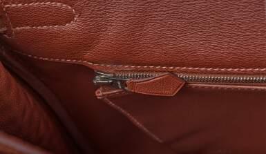View 8. Thumbnail of Lot 322. Marron D'Inde Birkin 35cm in Matte Porosus Crocodile with Palladium Hardware, 2013.