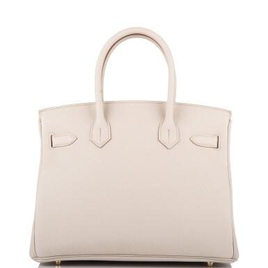 View 4. Thumbnail of Lot 5. Hermès Beton Birkin 30cm of Togo Leather with Gold Hardware.