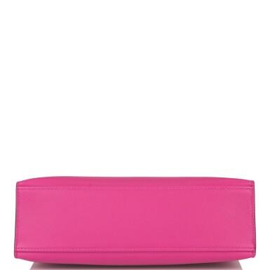 Hermès Rose Pourpre Mini Kelly Pochette of Swift Leather with Palladium Hardware