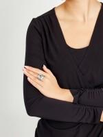 AQUAMARINE AND DIAMOND RING   海藍寶 配 鑚石 戒指