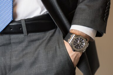 View 4. Thumbnail of Lot 6. AUDEMARS PIGUET   ROYAL OAK OFFSHORE, REF 15703ST STAINLESS STEEL WRISTWATCH WITH DATE CIRCA 2012.