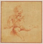 POMPEO BATONI   The infant Hercules strangling the snakes sent by Juno and a study of a foot