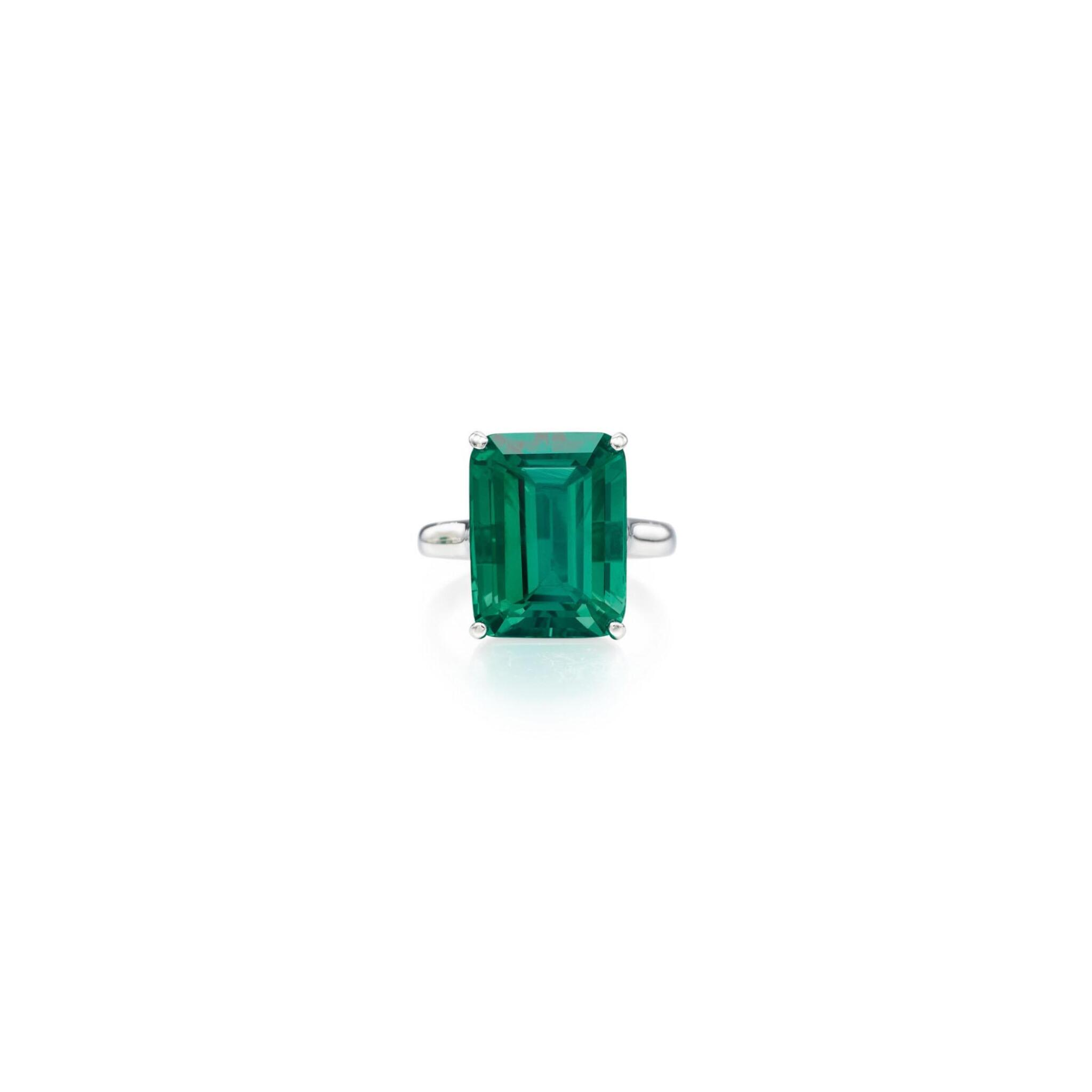 View full screen - View 1 of Lot 101. Tiffany & Co. | An Exquisite Emerald Ring.