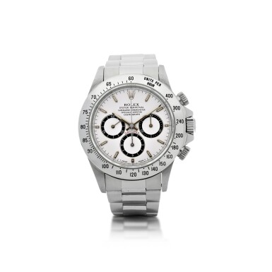 View 1. Thumbnail of Lot 18. ROLEX   REFERENCE 16520 'ZENITH' DAYTONA A STAINLESS STEEL AUTOMATIC CHRONOGRAPH WRISTWATCH WITH BRACELET, CIRCA 1994.