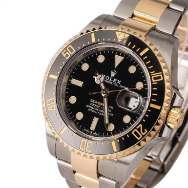 View 1. Thumbnail of Lot 5. ROLEX | Sea-Dweller, Ref. 126603, A Stainless Steel and Yellow Gold Wristwatch with Bracelet, Circa 2019.