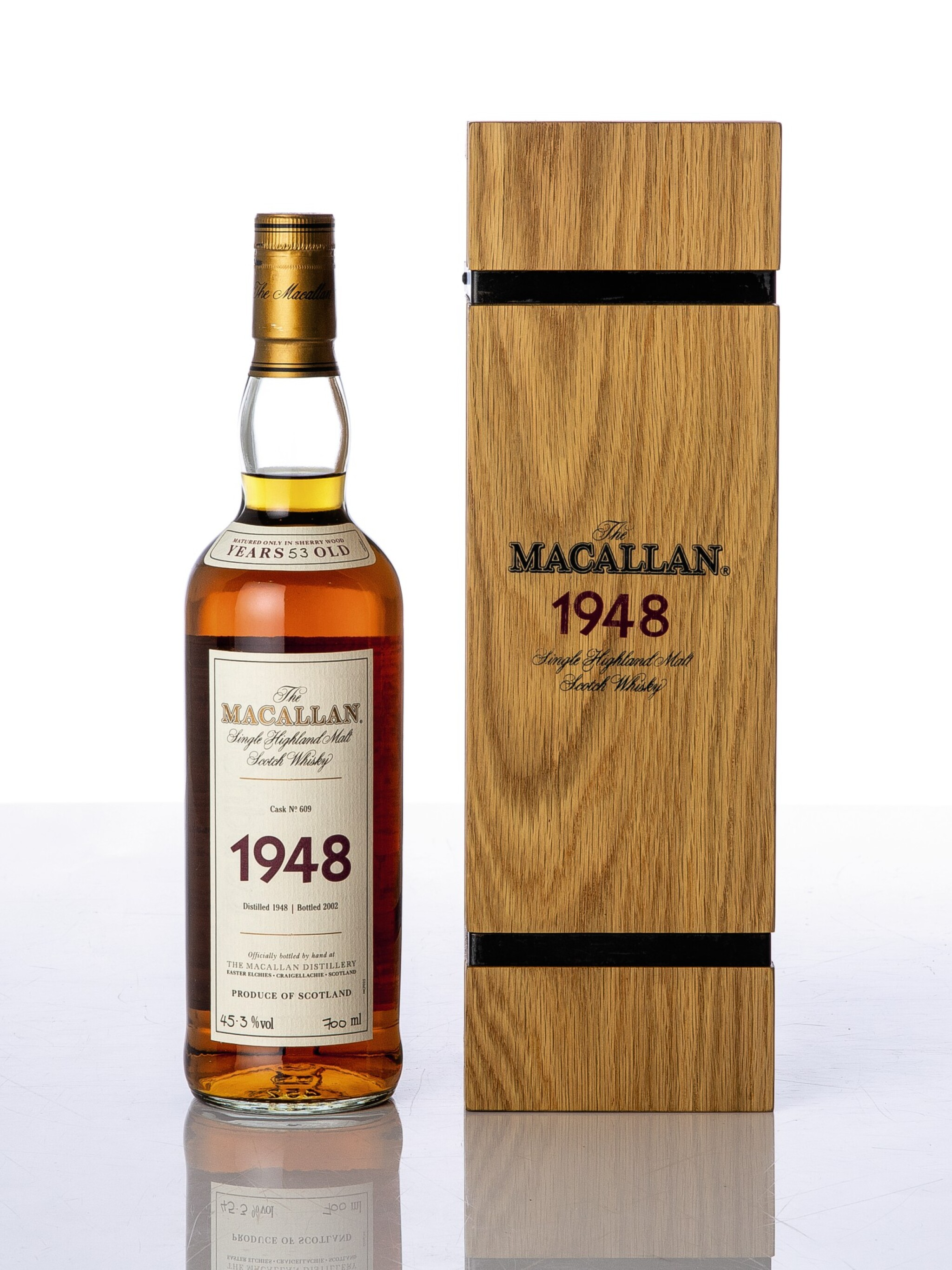 View full screen - View 1 of Lot 5520. The Macallan Fine & Rare 53 Year Old 45.3 abv 1948 (1 BT70).