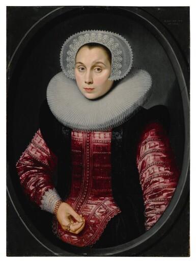 View 3. Thumbnail of Lot 518. Portrait of a man; Portrait of a woman.
