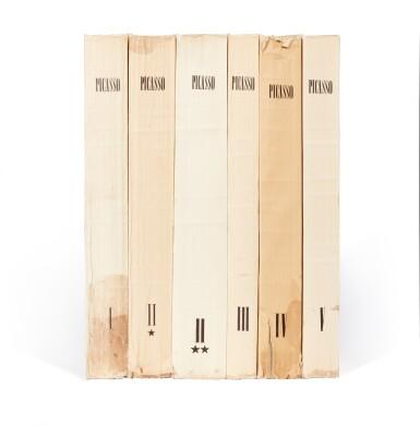 View 2. Thumbnail of Lot 167. Zervos, Pablo Picasso, Oeuvres, Paris, 1949-1986, 34 volumes, original wrappers.