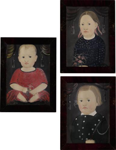 WILLIAM MATTHEW PRIOR   THREE PORTRAITS: THE WOODS CHILDREN