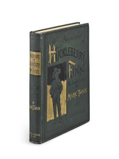 CLEMENS, SAMUEL | Adventures of Huckleberry Finn (Tom Sawyer's Comrade). New York: Charles Webster, 1885