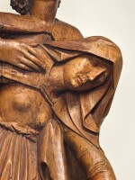 SOUTHERN GERMAN, PROBABLY FRANCONIA, EARLY 16TH CENTURY   THREE FIGURES FROM A CRUCIFIXION GROUP