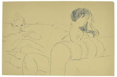 DAVID HOCKNEY, R.A. | ANN AND CELIA