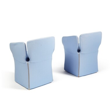 """View 4. Thumbnail of Lot 289. Pair of """"Bloomy"""" Armchairs."""
