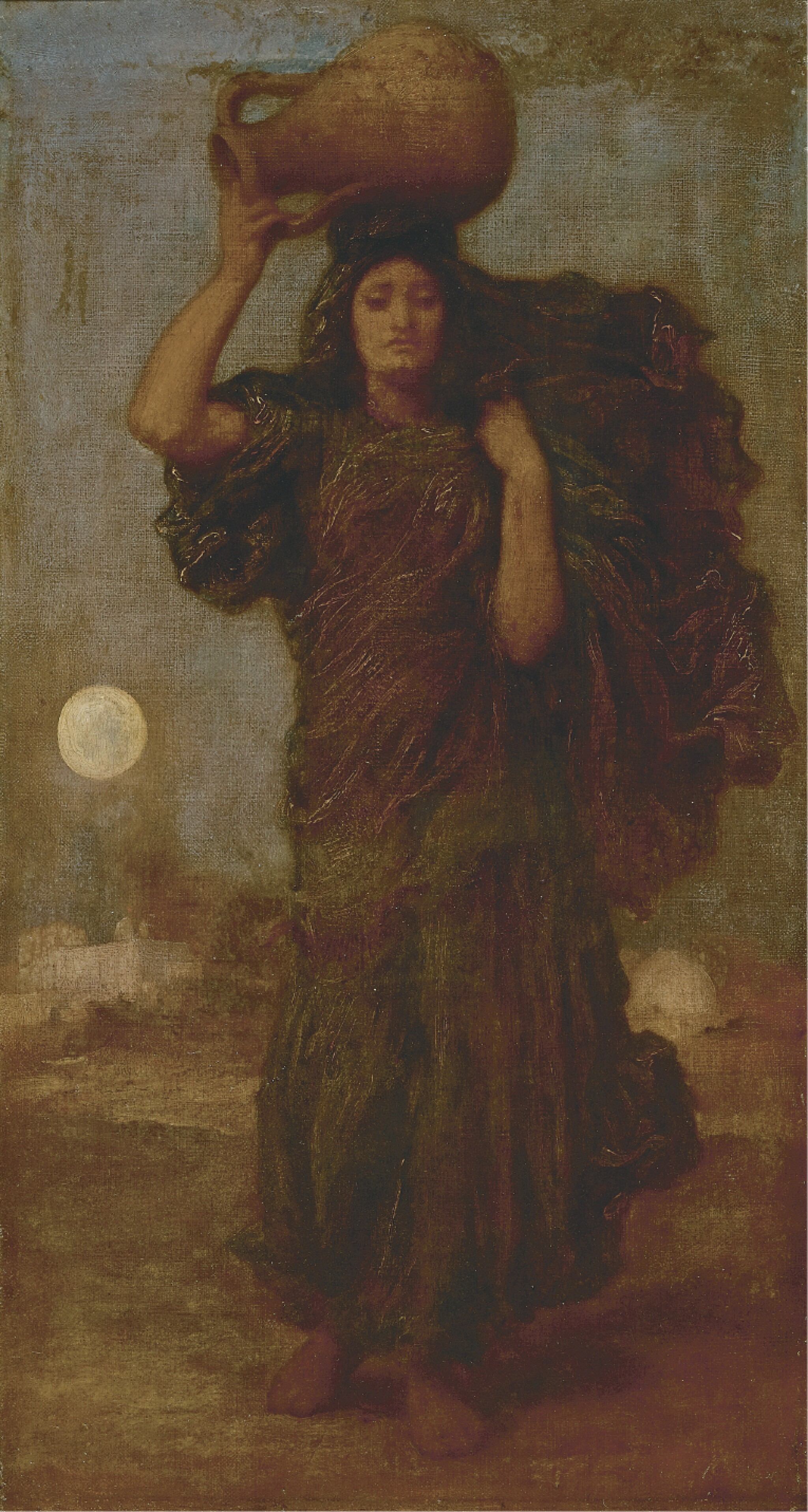 View 1 of Lot 22. FREDERIC, LORD LEIGHTON, P.R.A., R.W.S | A Nile Woman.