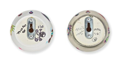 TAKASHI MURAKAMI | EYEBALL (WALL) - PLATINUM; AND EYEBALL (WALL) - WHITE (2 WORKS)