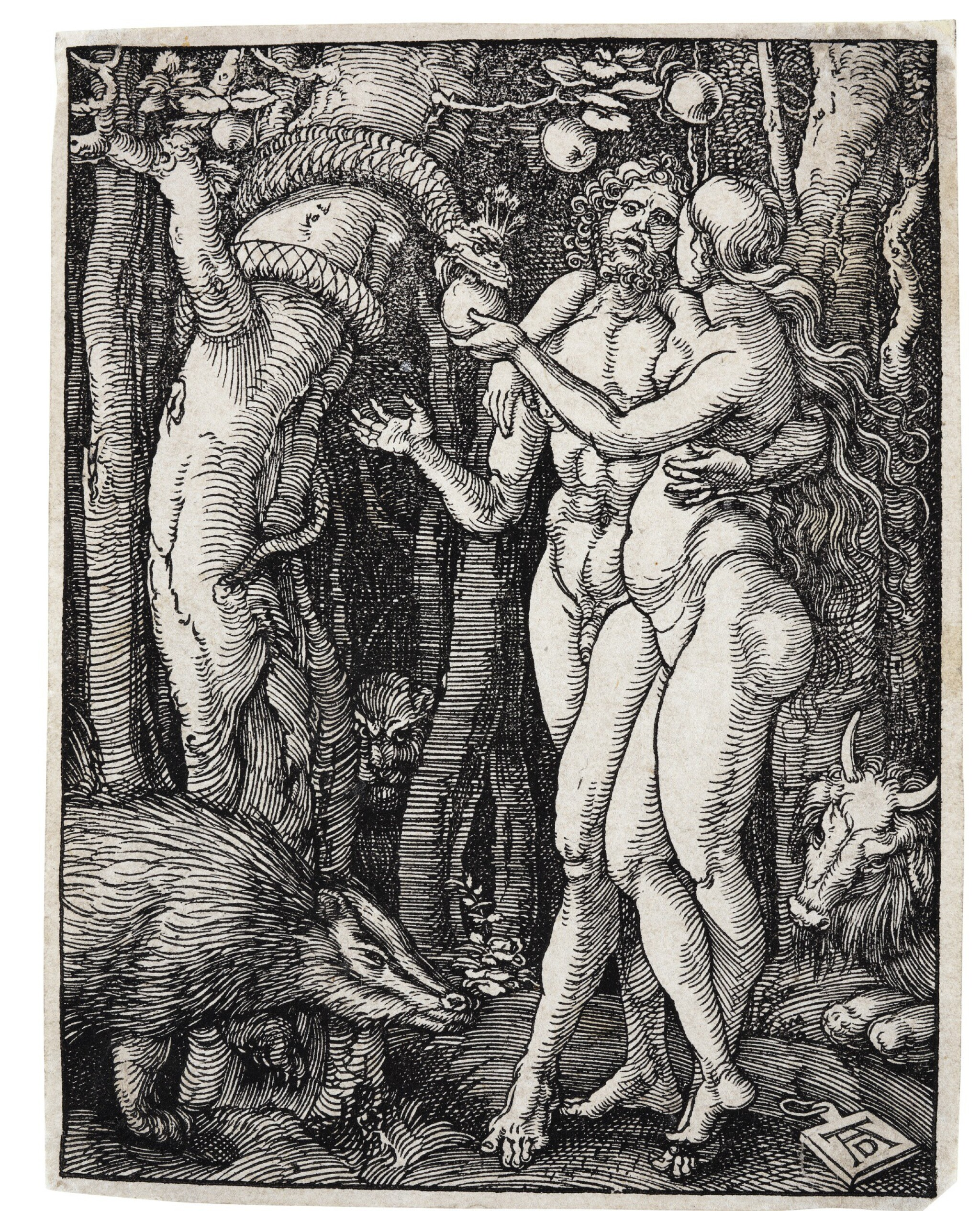 View full screen - View 1 of Lot 1. ALBRECHT DÜRER | ADAM AND EVE; AND ECCE HOMO (B. 17, 358; M., HOLL. 126, 144).