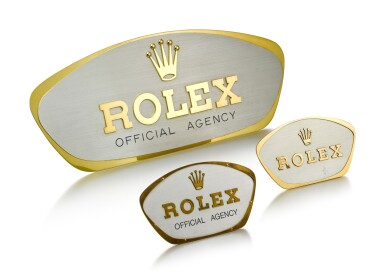 View 2. Thumbnail of Lot 8105. ROLEX | A SET OF THREE WINDOW DISPLAY, CIRCA 1960.