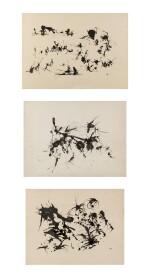 Henri Michaux   Sans Titre [3 oeuvres]
