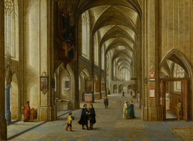 View 1. Thumbnail of Lot 30. The Interior of a Gothic Church | 《哥德式教堂內部》.