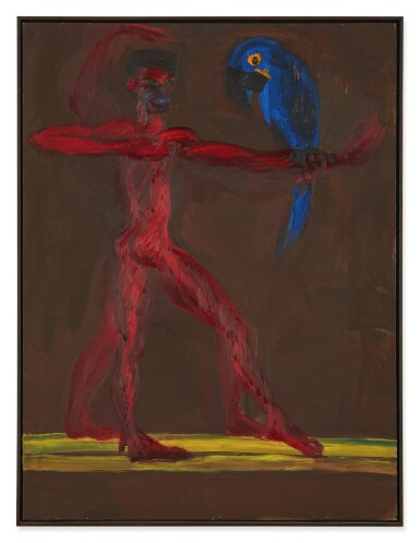 RAINER FETTING | MAN AND PARROT