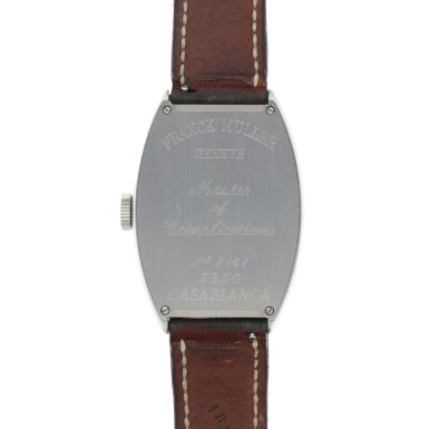 View 4. Thumbnail of Lot 545. Casablanca, Ref. 5850 Stainless steel wristwatch Circa 2002   Franck Muller 5850型號「Casablanca」精鋼腕錶,年份約2002.