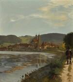 HANS THOMA   The Rhine at Säckingen in the Black Forest