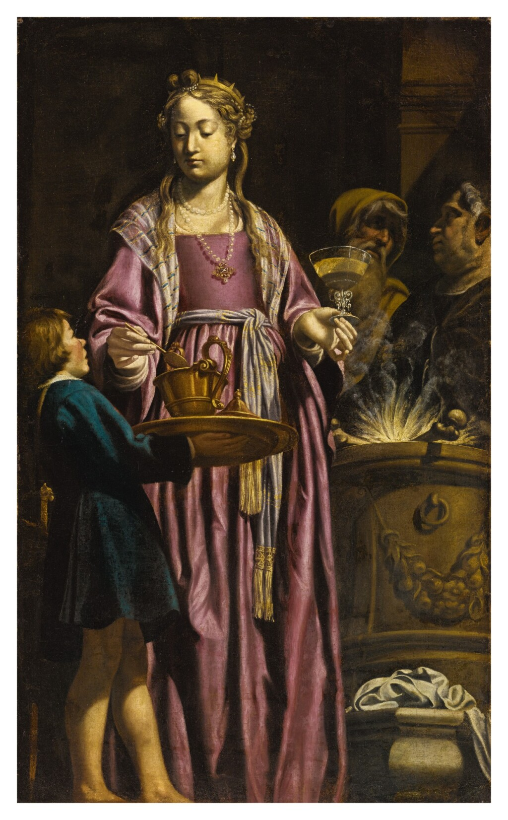 FILIPPO TARCHIANI   ARTEMISIA DRINKING WINE MIXED WITH THE ASHES OF HER HUSBAND, MAUSOLUS