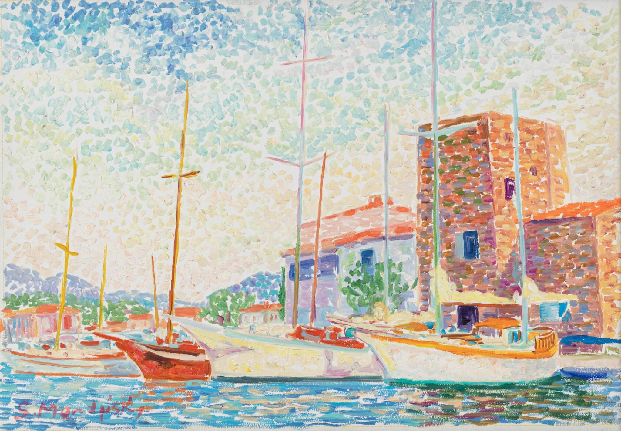 View full screen - View 1 of Lot 291. Vue de Port-Grimaud.