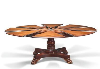 View 5. Thumbnail of Lot 24. AN EARLY VICTORIAN MAHOGANY EXPANDING DINING TABLE BY JOHNSTONE & JEANES, MID-19TH CENTURY.