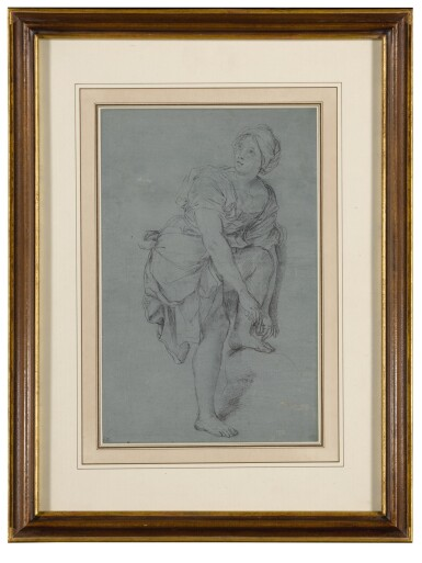 View 4. Thumbnail of Lot 136. A Young Woman Tying Her Sandals.