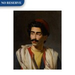 "Portrait of a man in a red hat, said to be a ""jeune Grec"" or possibly Hassan el Berberi"