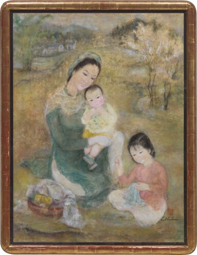 View 2. Thumbnail of Lot 1038. Le Thi Luu 樂氏琉 | Woman and Children 聖母與聖子.