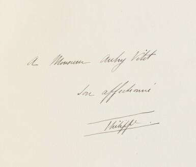 View 2. Thumbnail of Lot 189. DUC D'ORLEANS. La Revanche de la banquise... Paris, 1909. In-4. Maroquin bleu aux armes de France..
