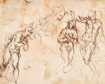 Sheet of Figure Studies for a Baptism of Christ