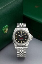 REFERENCE 1665 'DOUBLE RED' SEA DWELLER A STAINLESS STEEL WRISTWATCH DATE AND BRACELET, CIRCA 1978