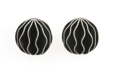Diamond ear clips, 'Walnuts', Michele della Valle