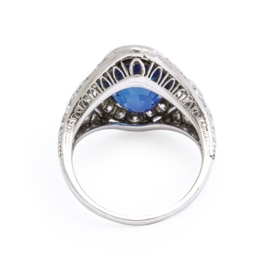 View 2. Thumbnail of Lot 43.  MARCUS & CO.   SAPPHIRE AND DIAMOND RING.
