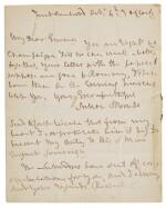 Nelson, autograph letter signed, to Emma Hamilton, 1801