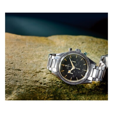OMEGA | SPEEDMASTER REF 2915-1 'BROAD ARROW', A STAINLESS STEEL CHRONOGRAPH WRISTWATCH WITH BRACELET, MADE IN 1958