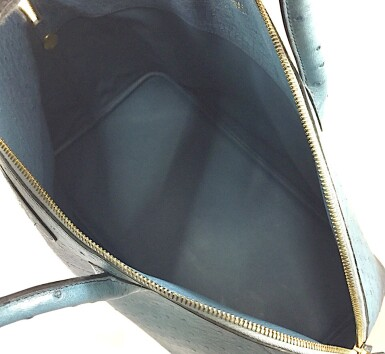View 6. Thumbnail of Lot 343. Teal Bolide 45cm in Ostrich Leather with Gold Hardware, 1997.