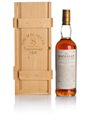 View 1. Thumbnail of Lot 38. THE MACALLAN 25 YEAR OLD ANNIVERSARY MALT 43.0 ABV 1974 .