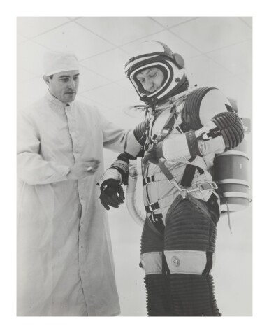 View 2. Thumbnail of Lot 8. [SPACESUIT TESTING]. ARCHIVE OF PHOTOGRAPHS DOCUMENTING SPACESUIT TESTING, CA 1958-1975.