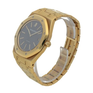 View 2. Thumbnail of Lot 375. ROYAL OAK JUBILEE, REF 14802BA.OO.0944BA.01 LIMITED EDITION YELLOW GOLD WRISTWATCH WITH DATE AND BRACELET CIRCA 1992.